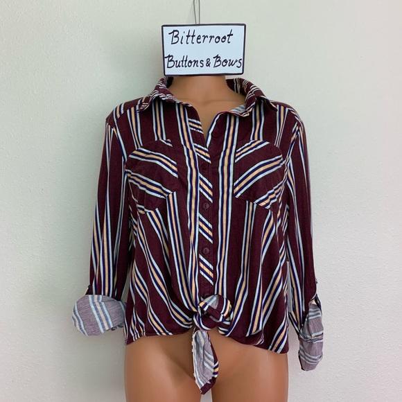 49e504899a18 NWOT Passport Burgundy Soft Button Down Shirt XL